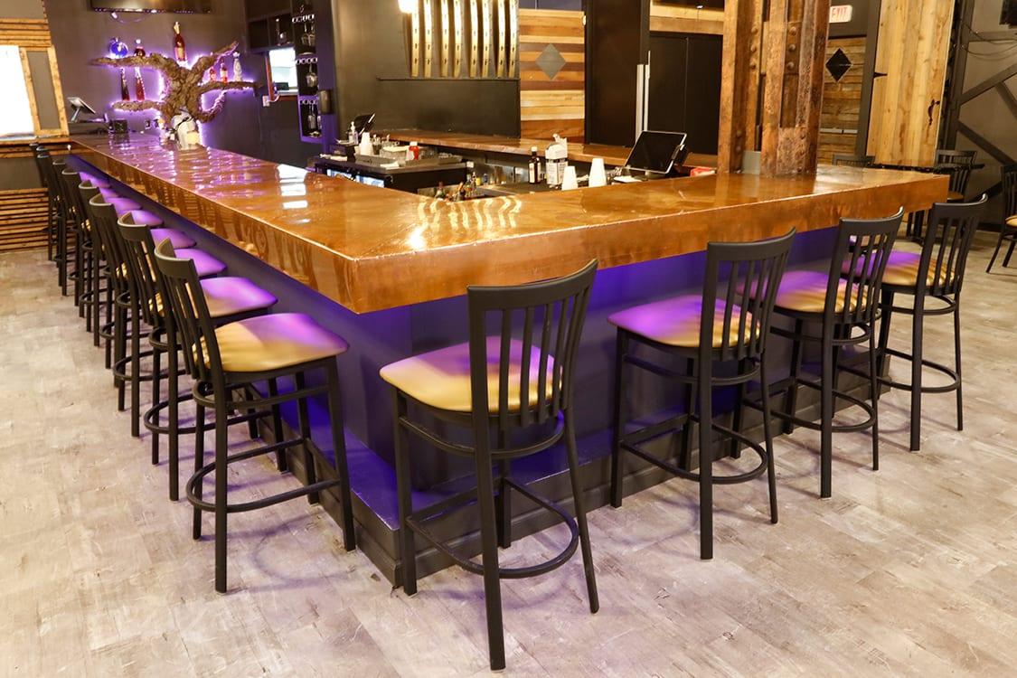restaurant bar stools on location