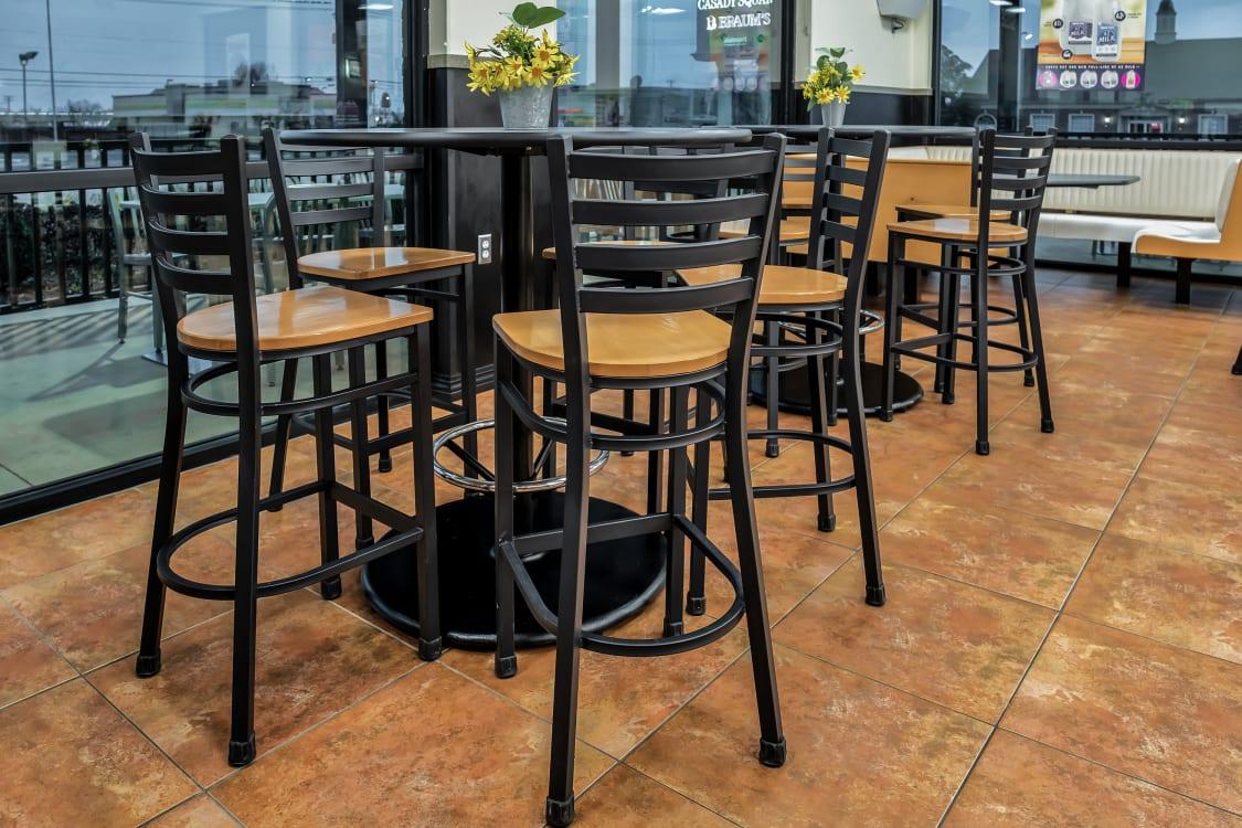 Fast food restaurant bar stools