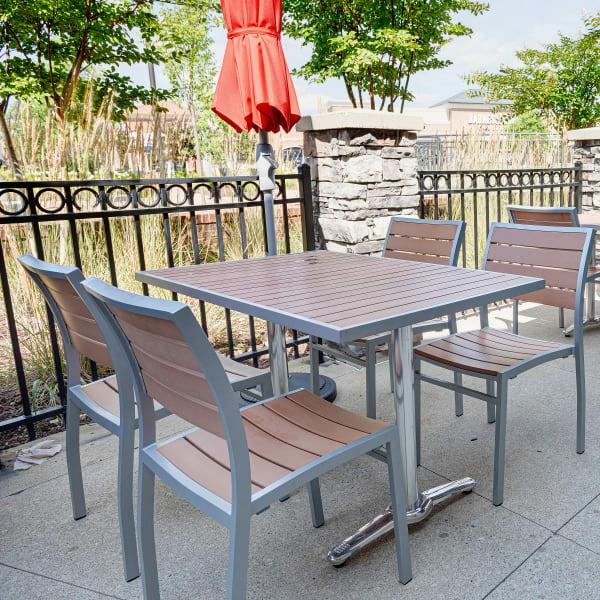 patio plastic teak restaurant table