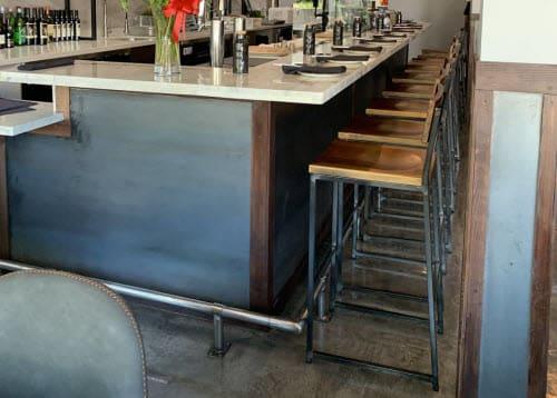 Distressed industrial restaurant bar stools