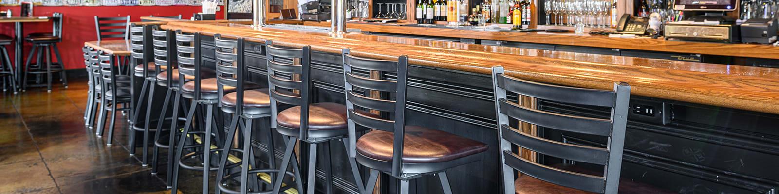 metal swivel bar stools for restaurants