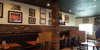Restaurant furniture on location