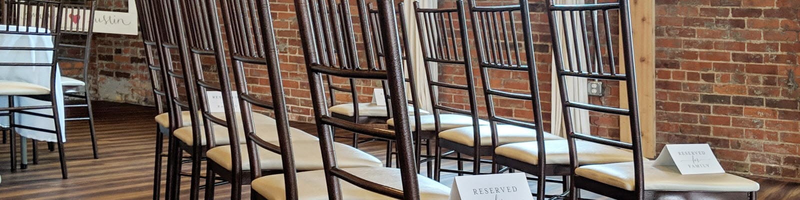 Metal chiavari chairs