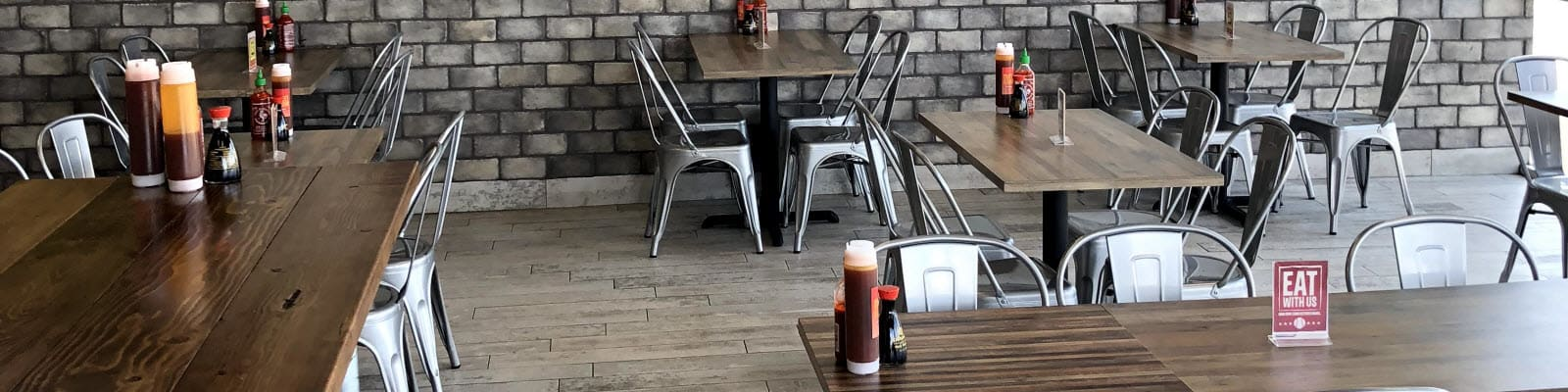 industrial restaurant design and furniture