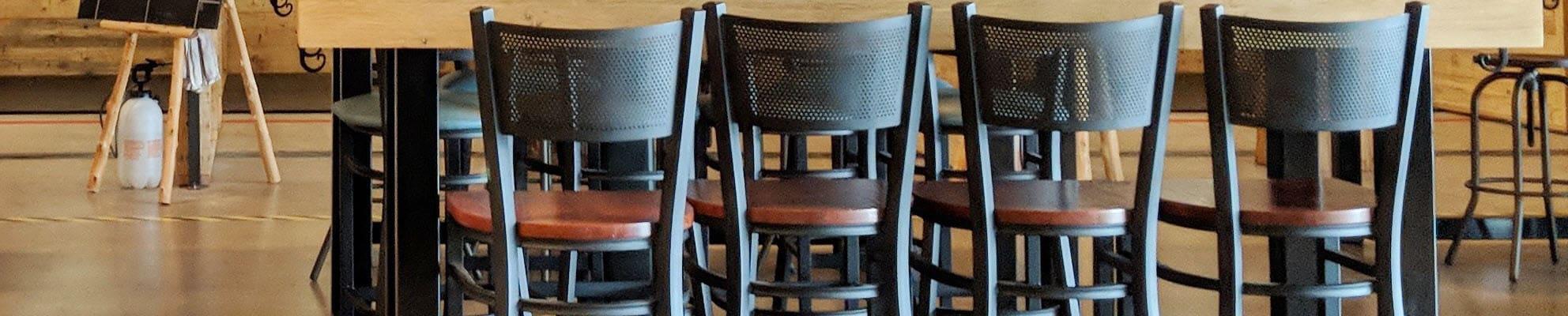 Commercial metal bar stools