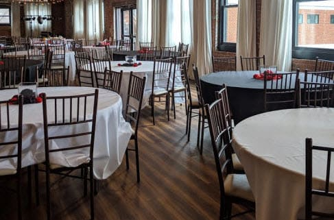 Wedding hall chiavari chairs