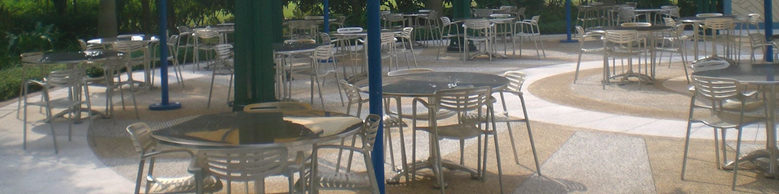 Aluminum patio tables and chairs