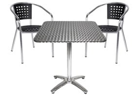 Aluminum patio table and chairs