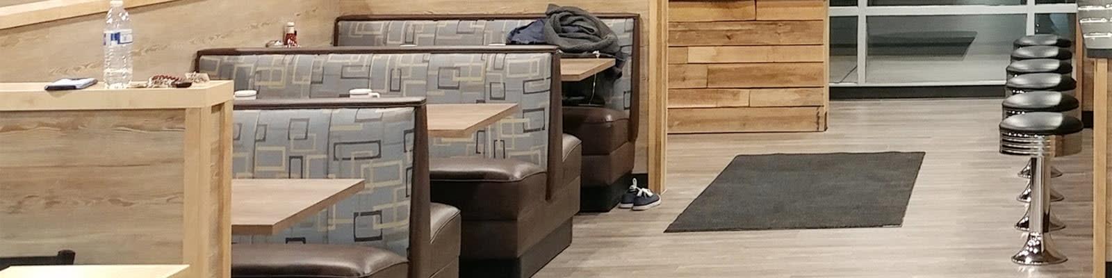 Restaurant diner booths