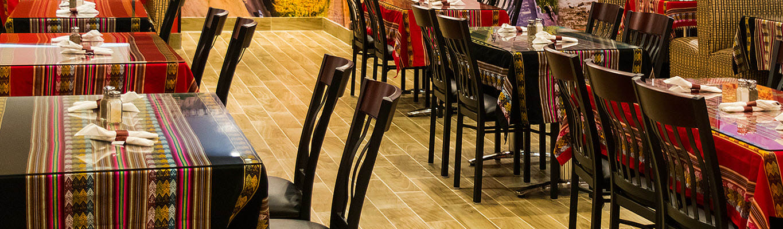 Restaurant furniture in ethnic restaurant