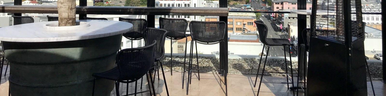 Roof top bar stools