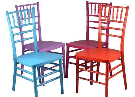 Colorful chiavari chairs