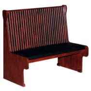 Wood Bench with Bead Board Back