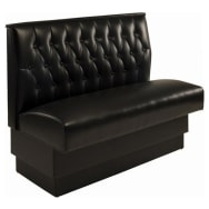 Button Tufted Back Booth