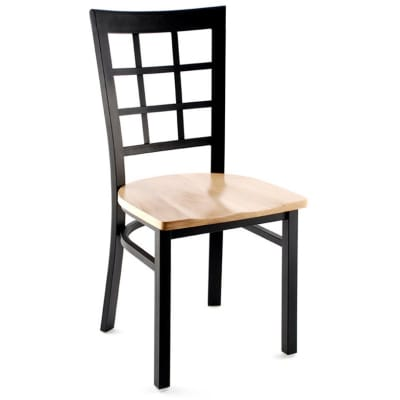 Metal window back chair