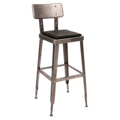 Clear Coat Laurie Bistro Style Metal Bar Stool