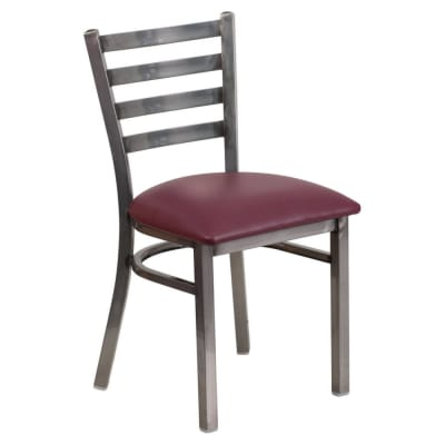 Clear Coat Metal ladder back chair