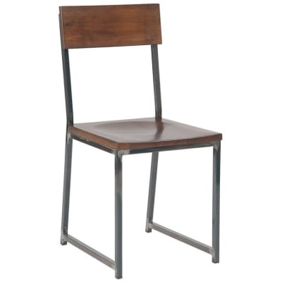 Industrial Series Metal Chair with Wood Seat and Back