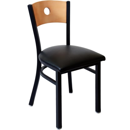 Interchangeable Back Metal Restaurant Chair with a Circled Back