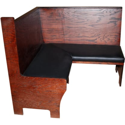 Set of 4 custom booths with bar height