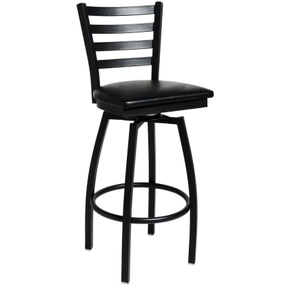 Swivel Ladder Back Metal Bar Stool