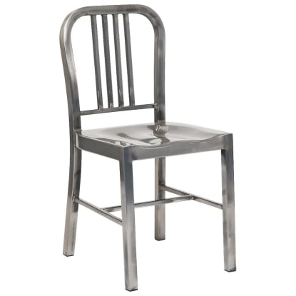 Indoor Metal Restaurant Chair in Clear Finish