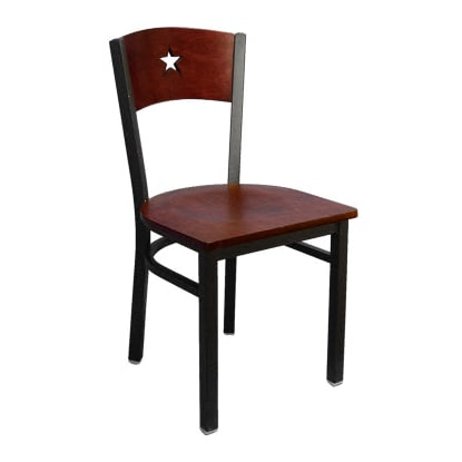 Interchangeable Back Metal Chair with a Star in the Back