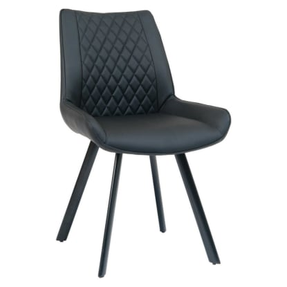 Sydney Padded Metal Chair with Black Vinyl Upholstery