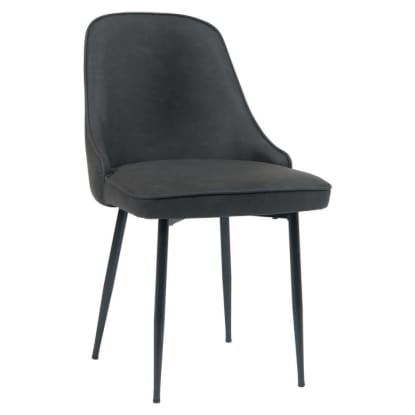 Dark Grey Vinyl Metal Chair