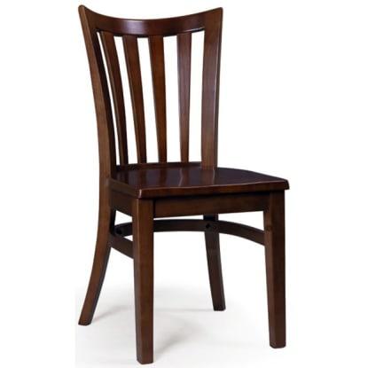 Elongated Vertical Slat Chair