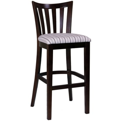 Elongated Vertical Slat Bar Stool