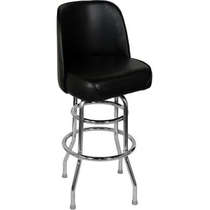 Chrome Swivel Barstool with a Single / Double Ring