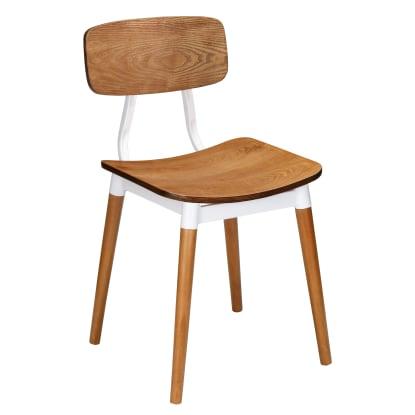 Slate White Metal Restaurant Chair