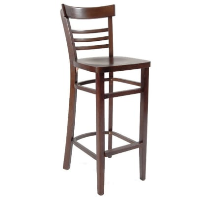 Beechwood Ladder Back Bar Stool with Extended Edges