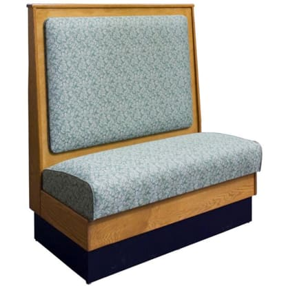 DH Style Wood Booth with Semi Padded Back - Single