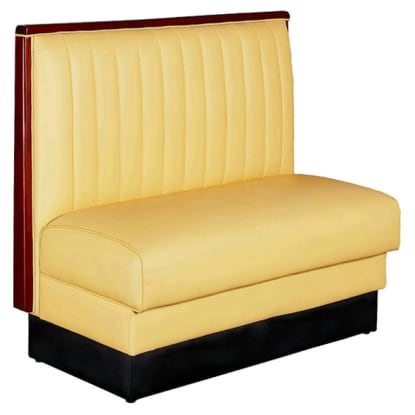 12 Channel Booth with Yellow Vinyl Seat - Single