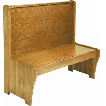 Wood Bench with Wood Seat and Back