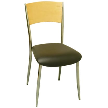 Curved Back Metal Chair