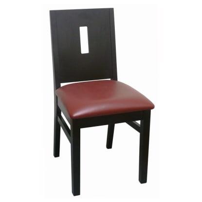 Modern Style Deco Back Wood Restaurant Chair