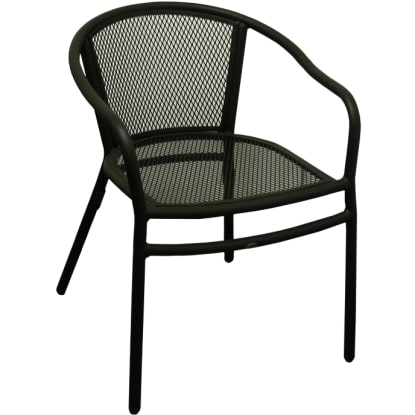 Rosa Metal Patio Chair With Arms