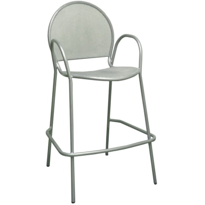 Nero Metal Patio Bar Stool With Arms