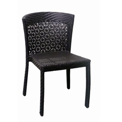 Aluminum Woven Rattan Patio Chair