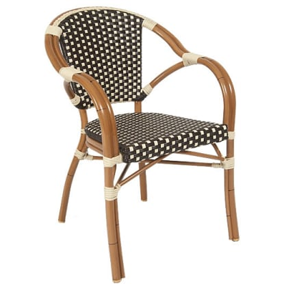Aluminum Patio Wicker Arm Chair