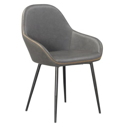 Vintage Style Metal Chair with Padded Seat & Back