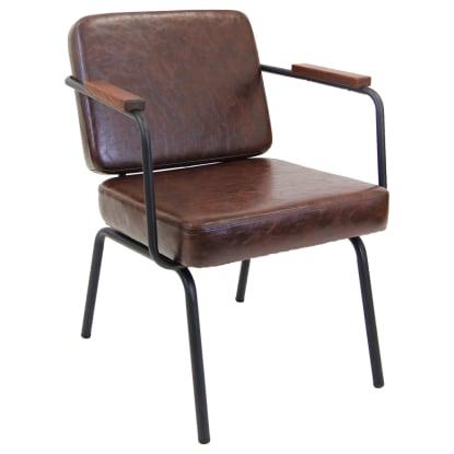 Neo-Modern Brown Armchair