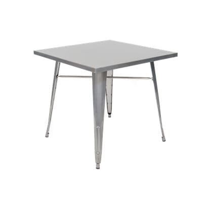 Metal Table in Clear  Finish - Table Height