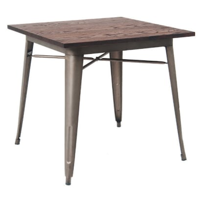 Industrial Series Table with Metal Legs and Wood Top
