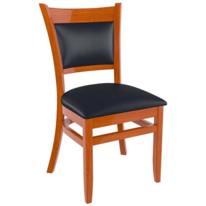 Premium Padded Back Wood Chair