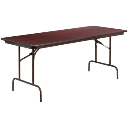 Mahogany Laminate Folding Banquet Table
