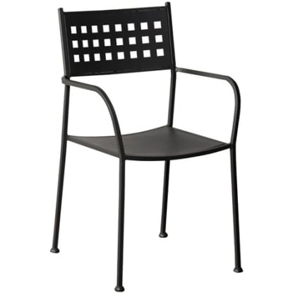 Basket Back Outdoor Chair
